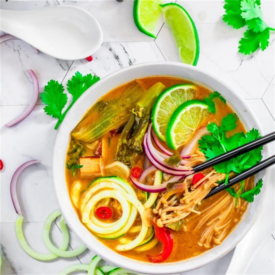 Tom Yum Zoodle Soup (vegan and gluten-free)