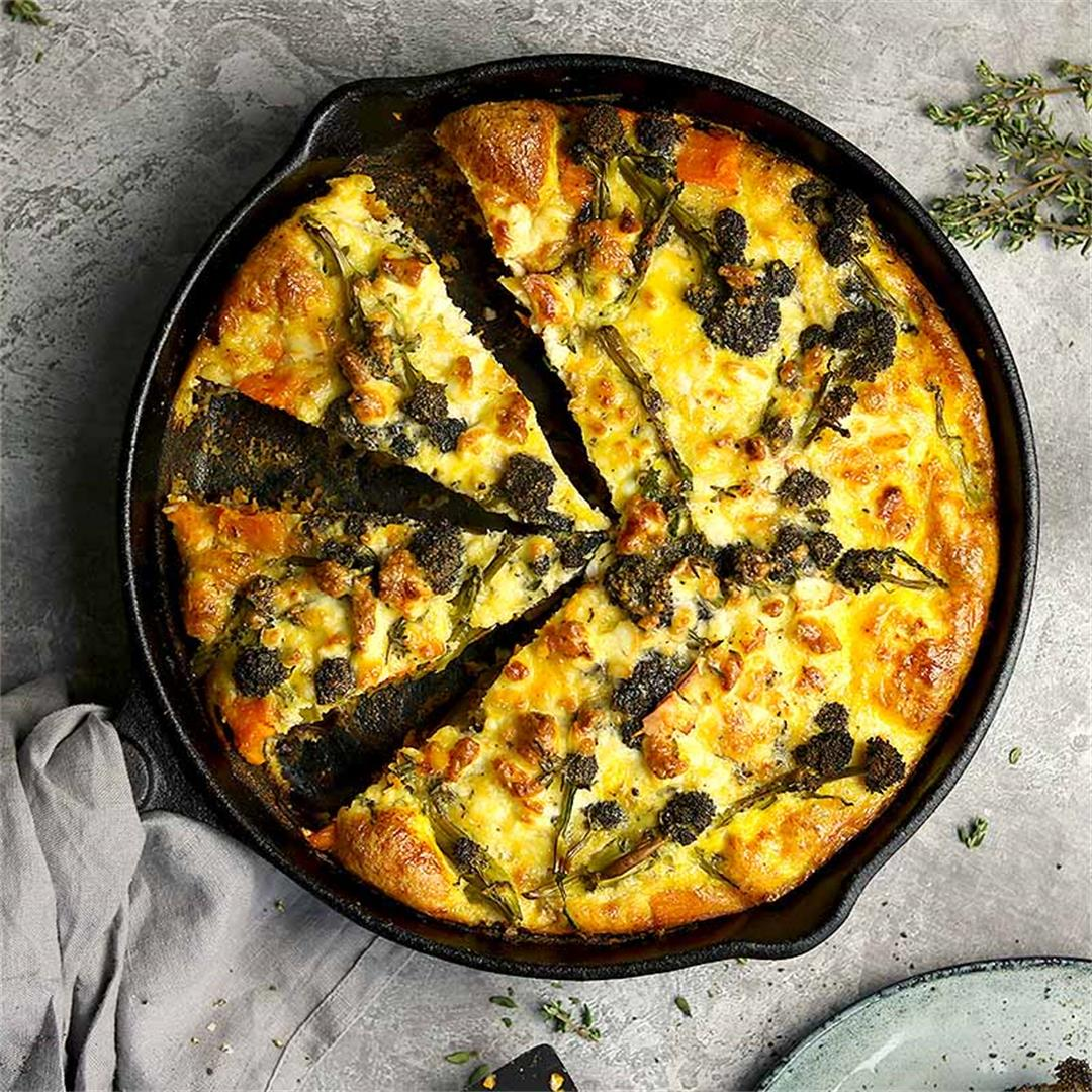 Sweet Potato Frittata with Broccoli