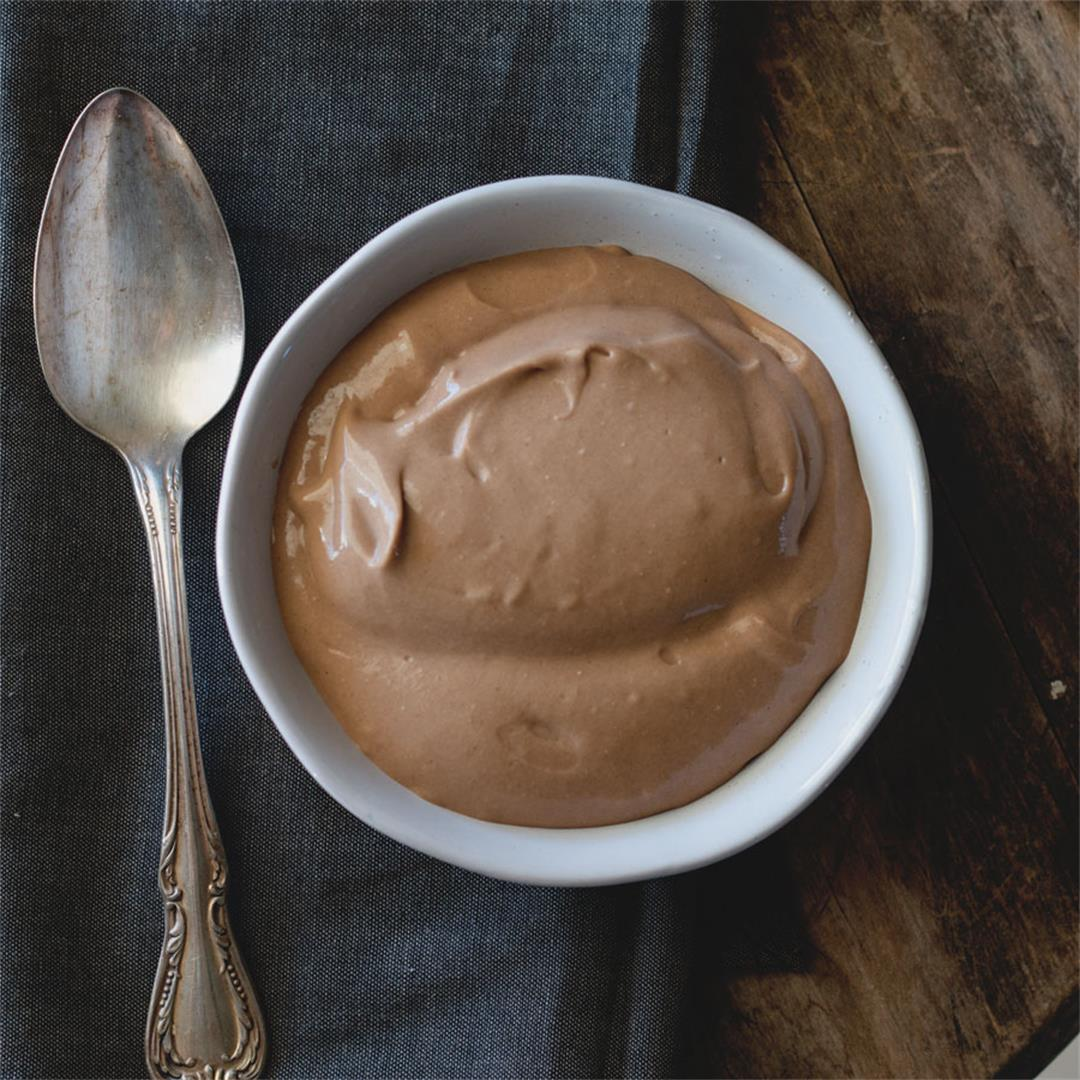 Healthy Chocolate Pudding (dairy-free)