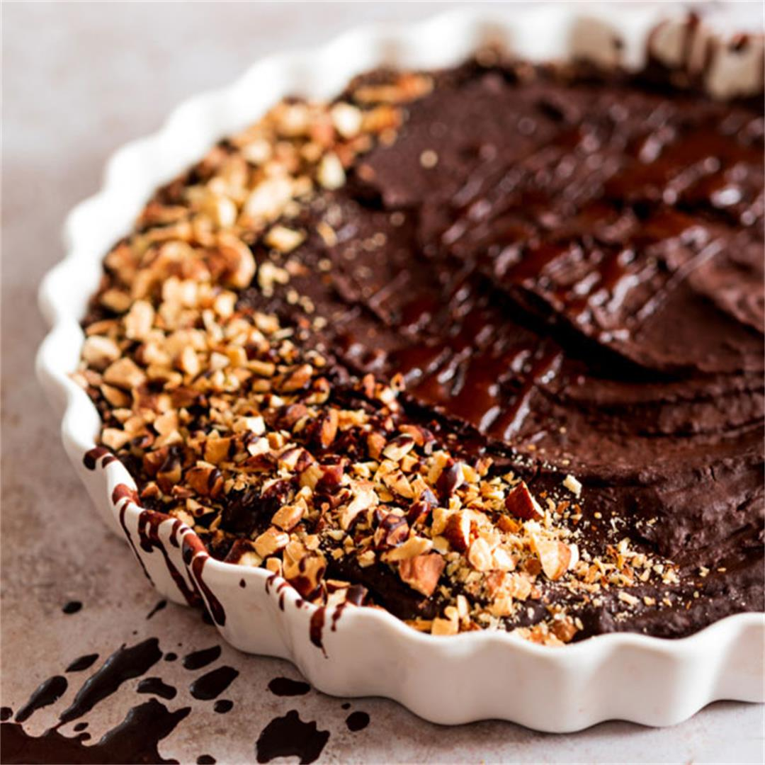 Black Bean Chocolate Mousse Tart