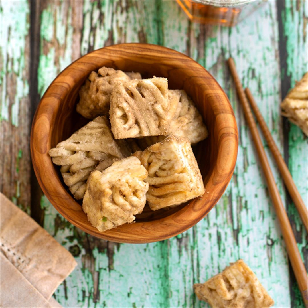 Crispy Udon Noodle Clusters