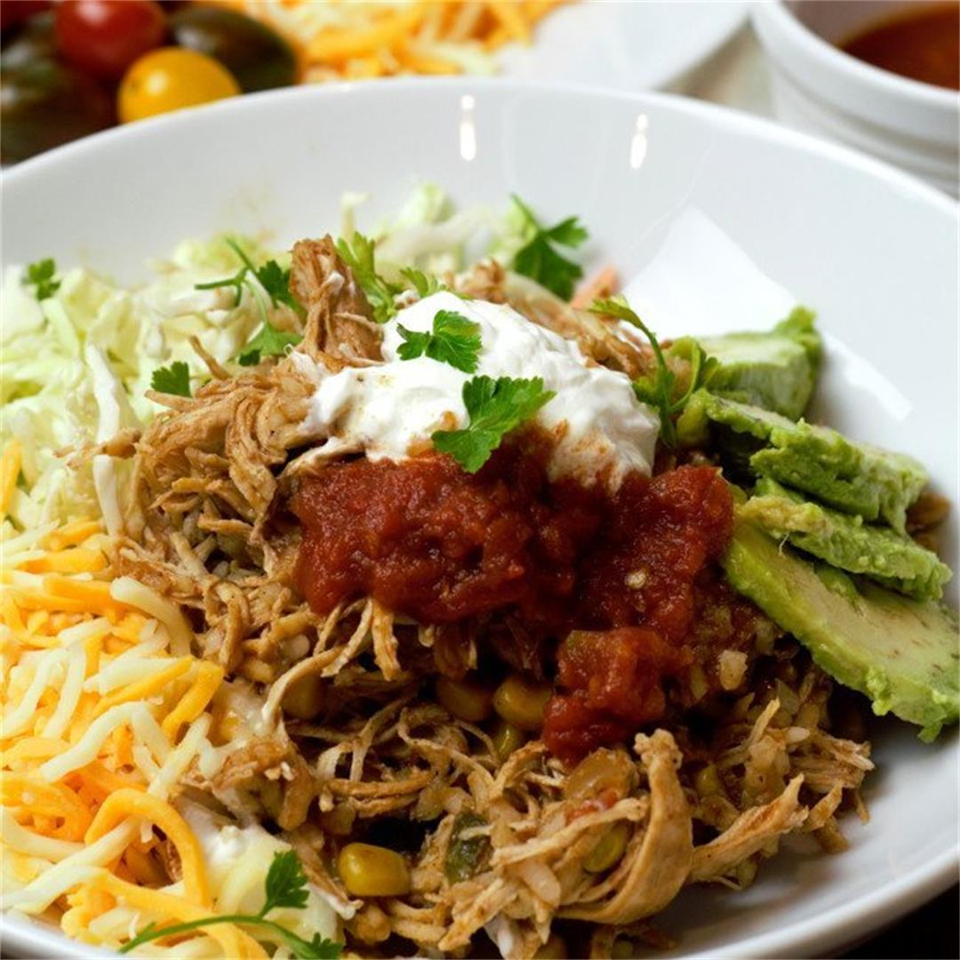 Slow Cooker Chicken Taco Bowl