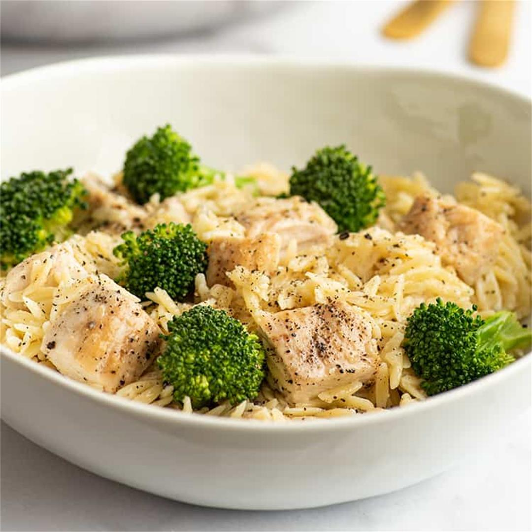 Chicken and Broccoli Orzo