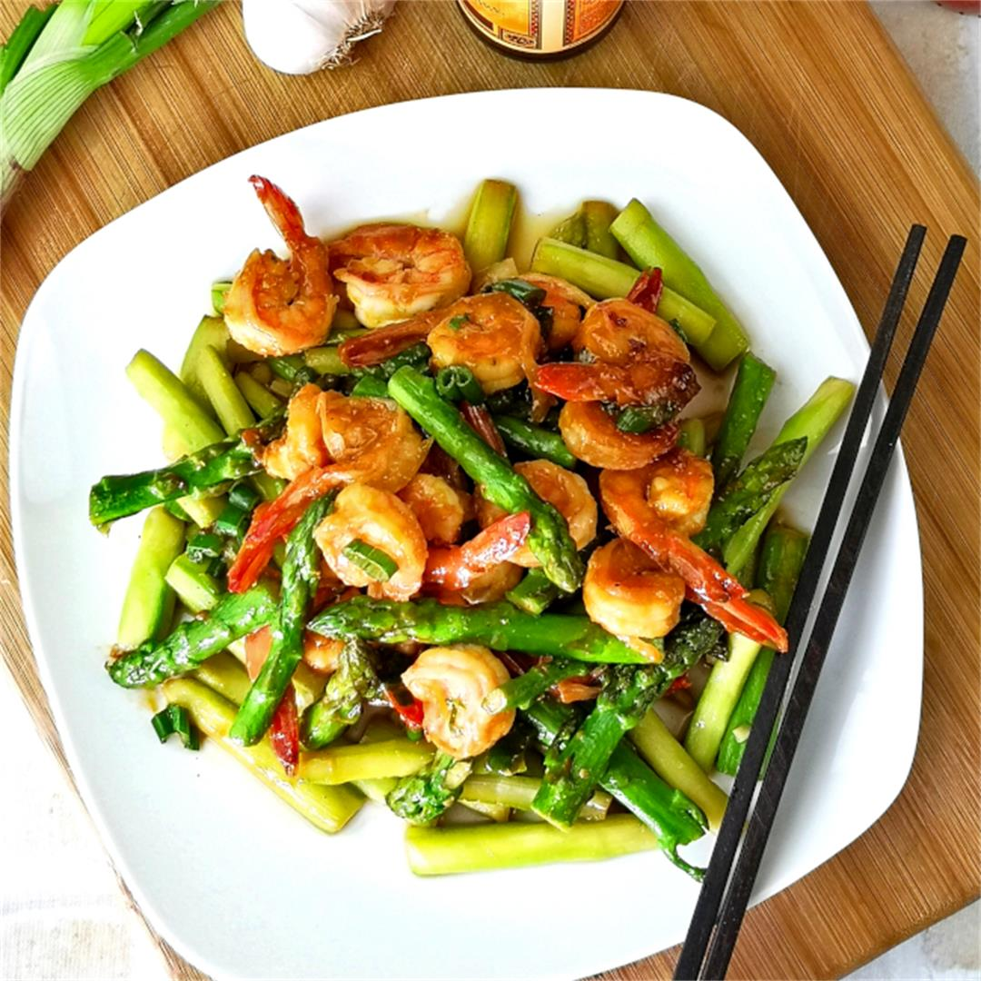 Shrimp and asparagus stir-fry- How to cook (with unique flavor)