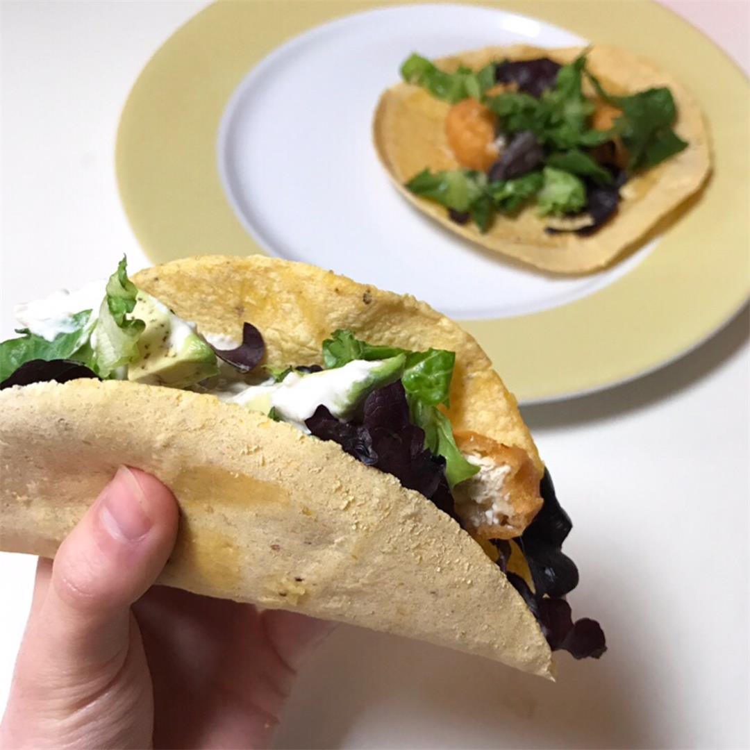 Fishless Tacos With Easy Vegan Sour Cream