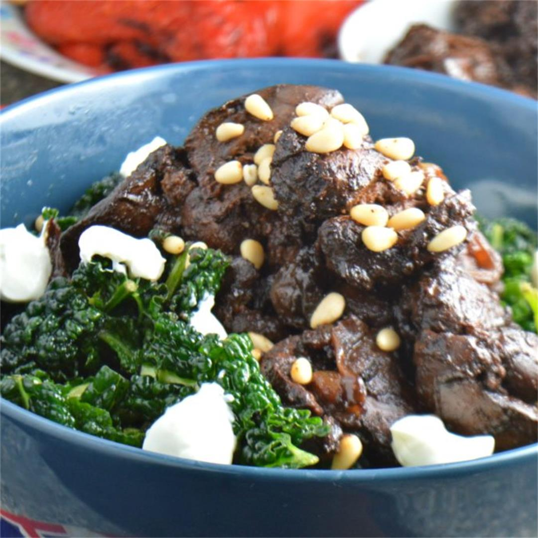 Spicy Chicken Liver Kale Salad — Tasty Food for Busy Mums Seaso