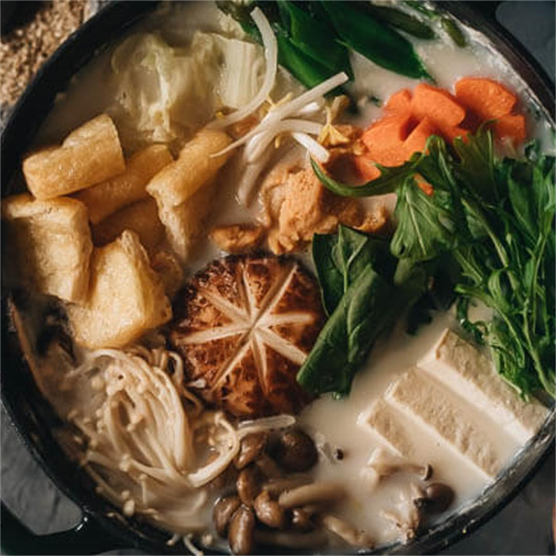 Vegan Soy Milk Hot Pot (Tonyu Nabe)