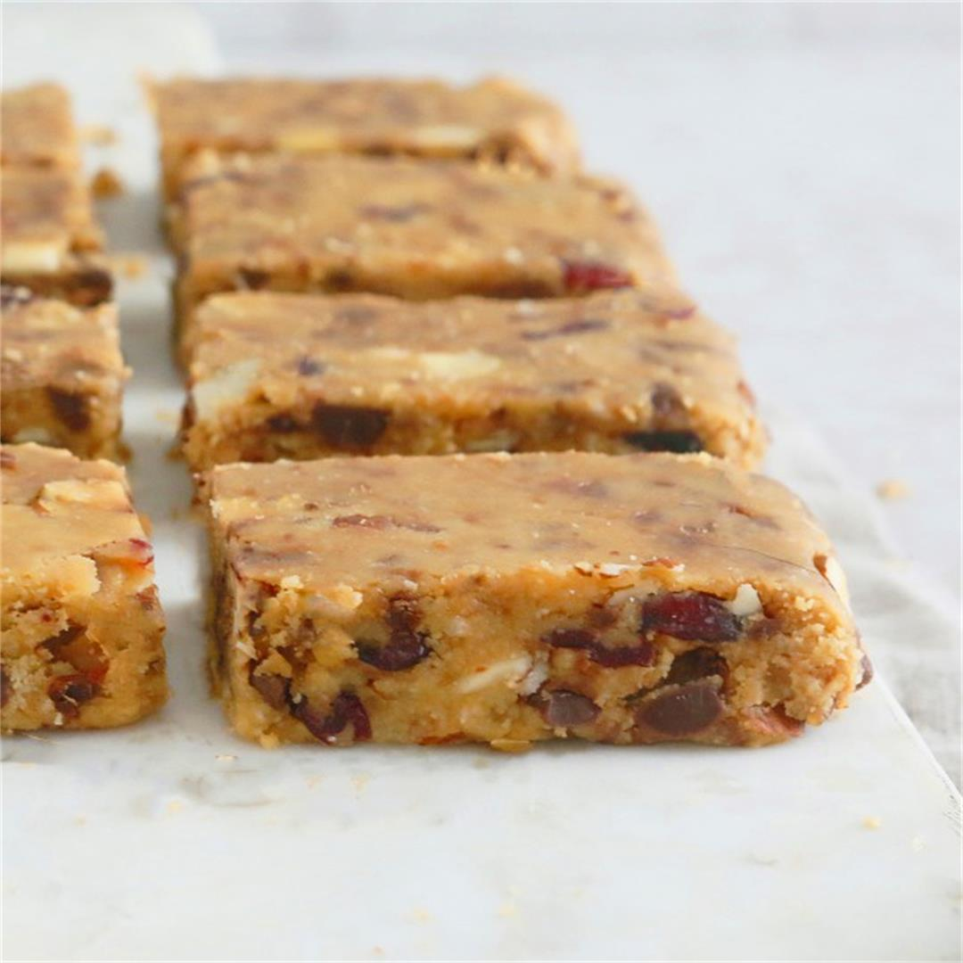 No Bake Almond Butter Bars (Vegan, gluten-free)