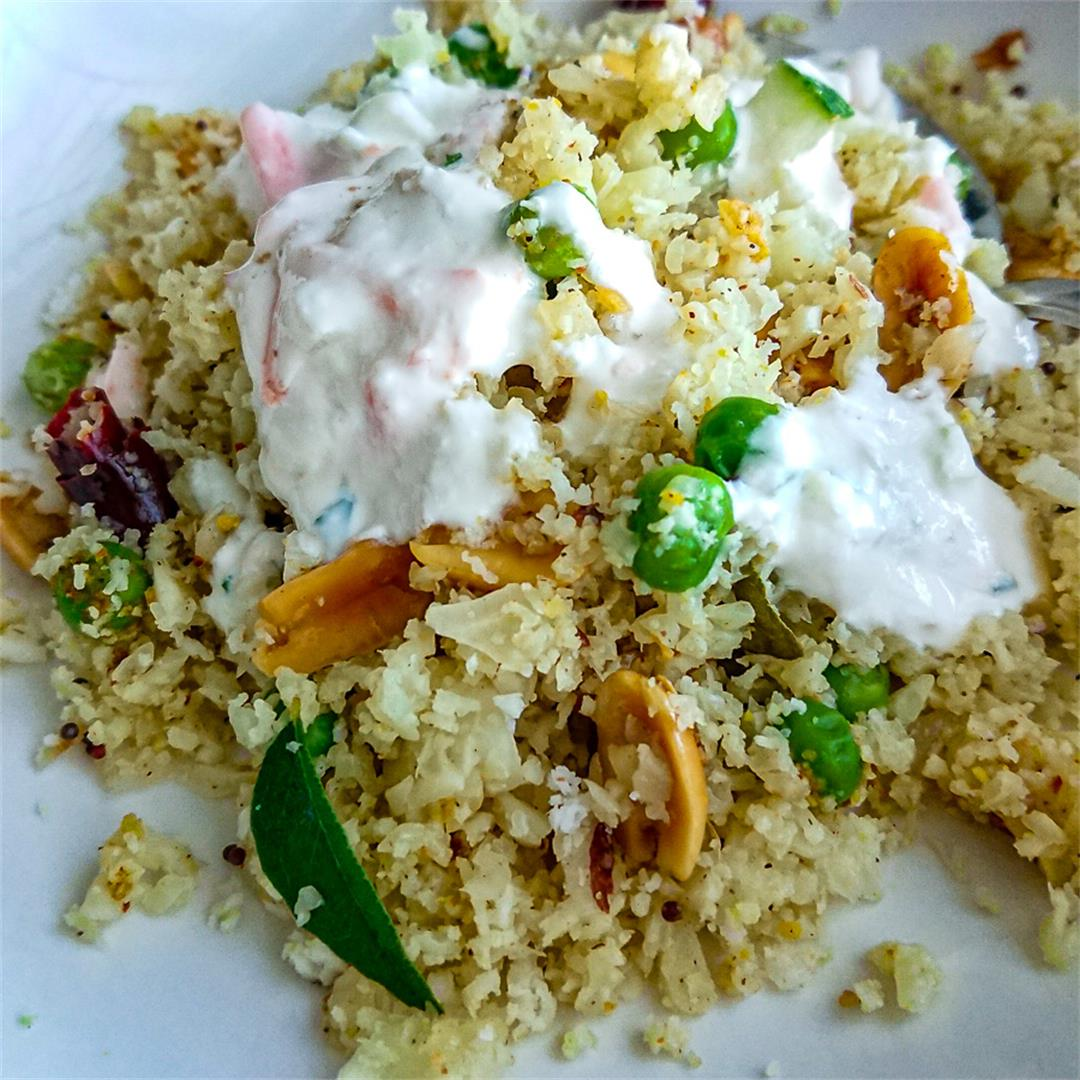 Cauliflower fried rice with coconut