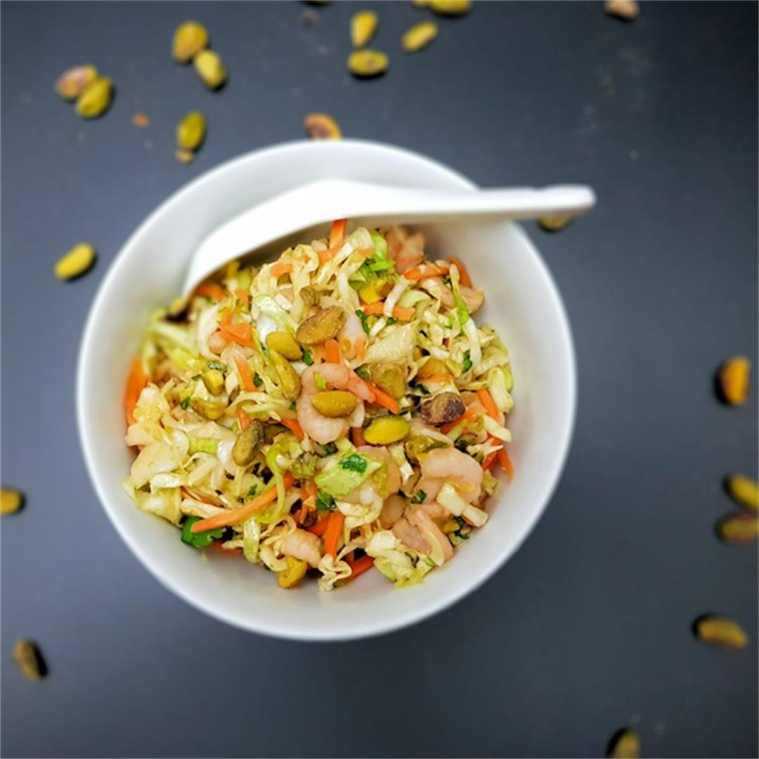 cabbage and prawn vietnamese salad bowl