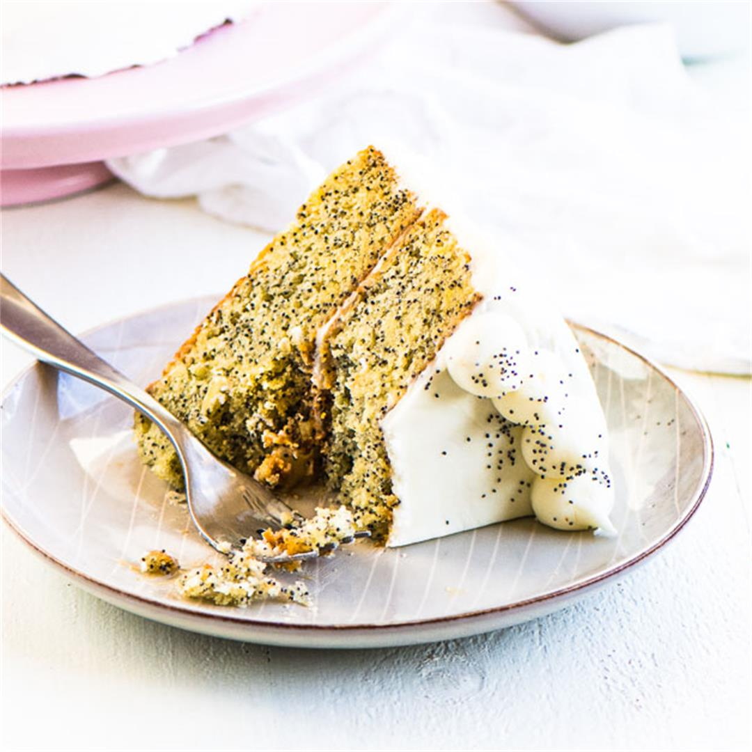 Lemon Poppy Seed Cake (from scratch!)