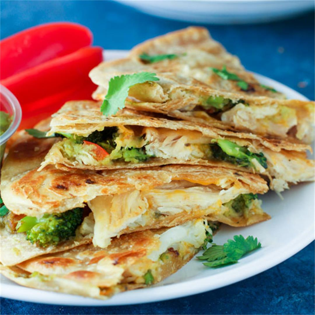 Healthy Chicken Quesadillas