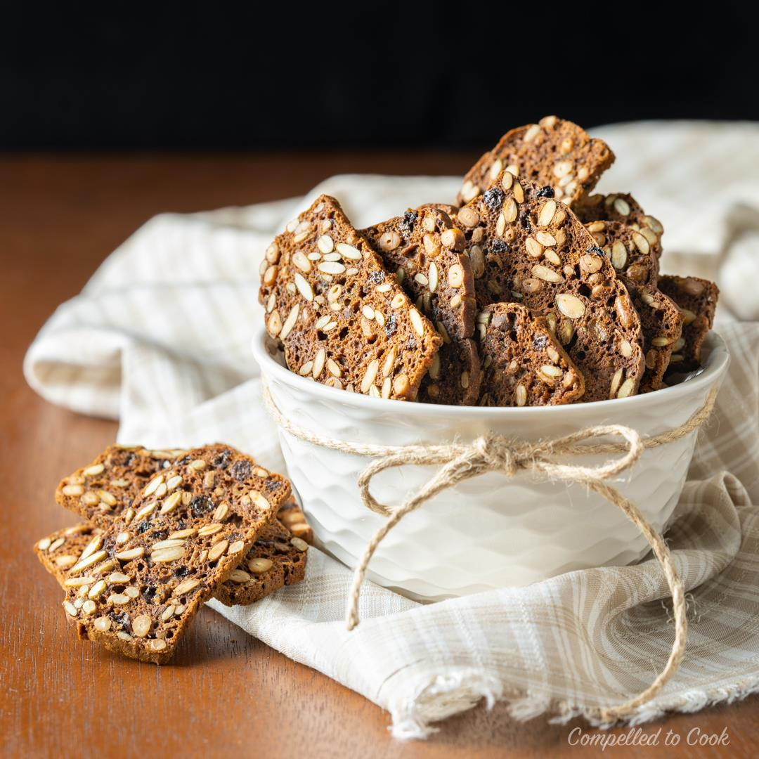 Pumpernickel Seed and Nut Crisps