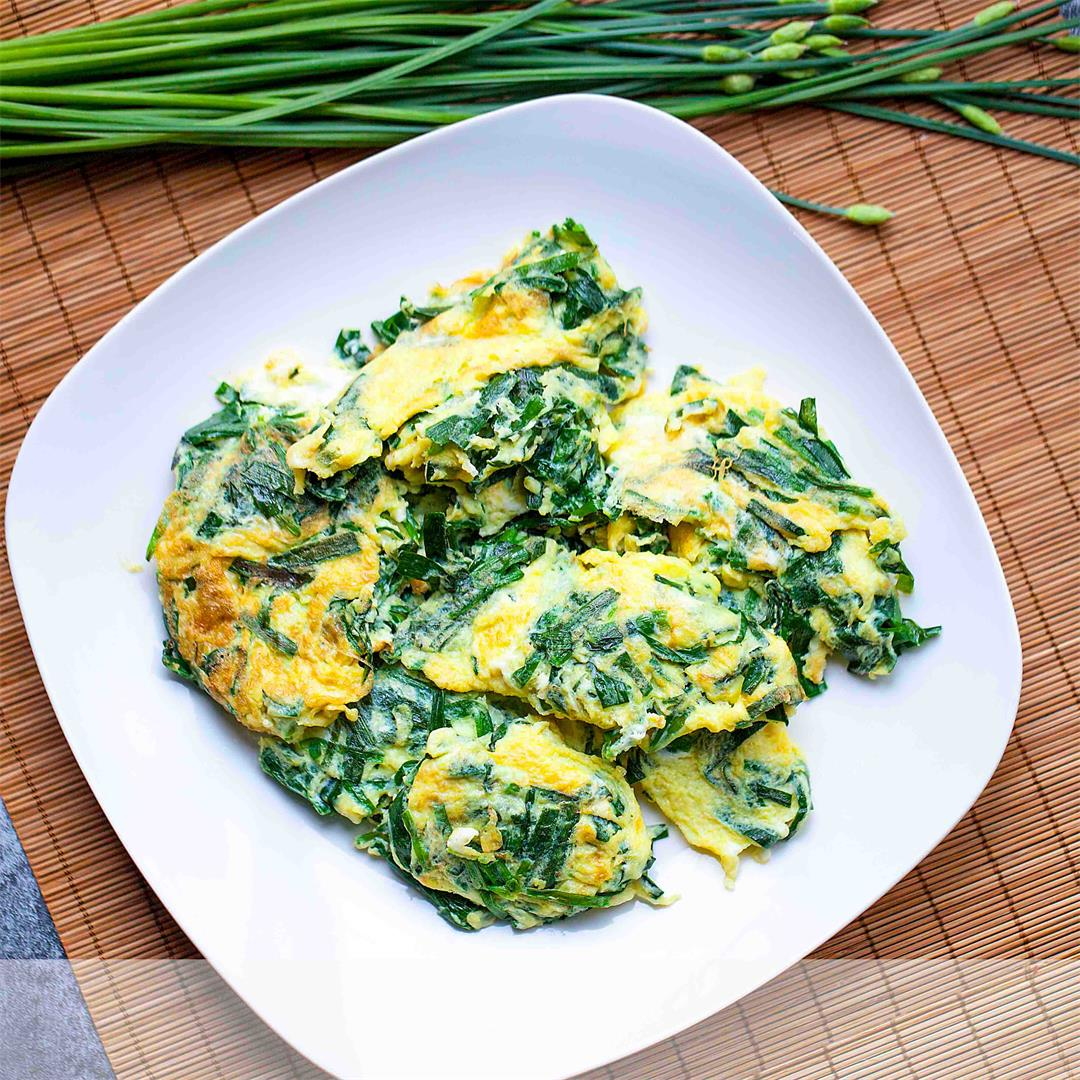 Stir Fried Garlic Chives & Eggs