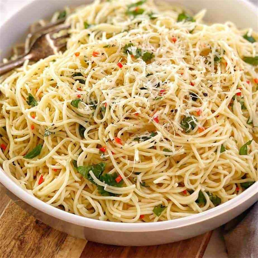 Quick Angel Hair Pasta Salad With Chilli