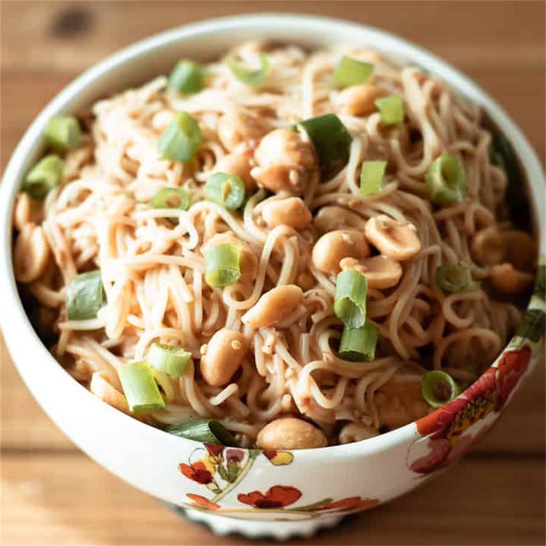 10 Minute Peanut Sauce Noodles