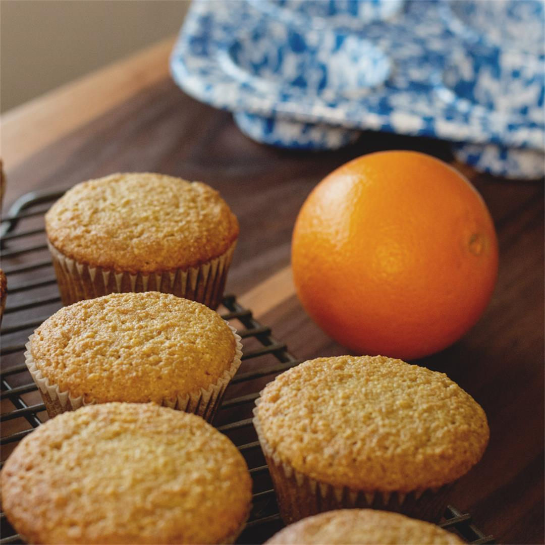 Paleo Orange Muffins (healthy, gluten free)