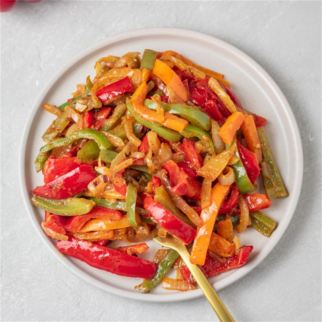 Sauteed Peppers and Onions (Peperonata Recipe)