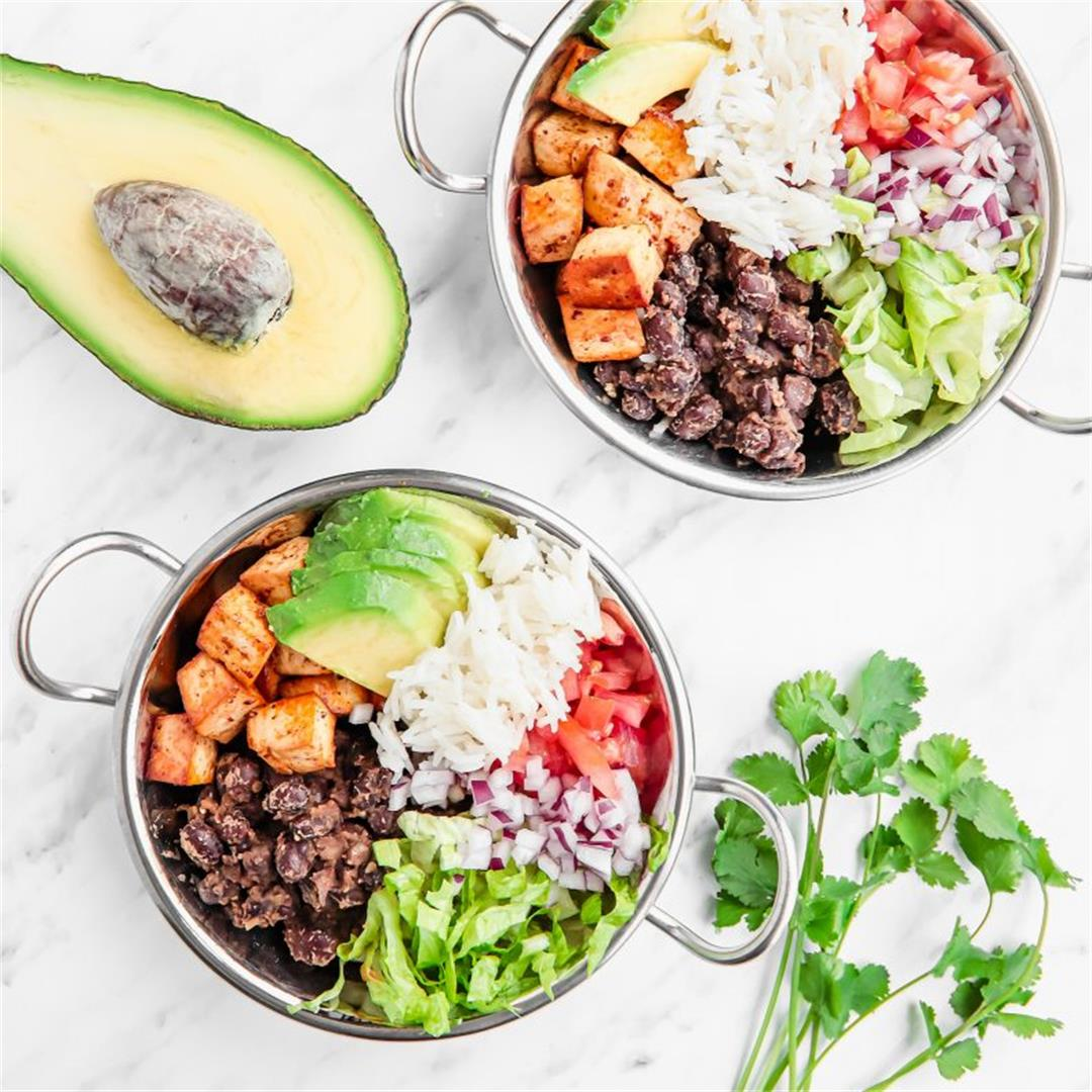 Mexican bowl healthy and vegan