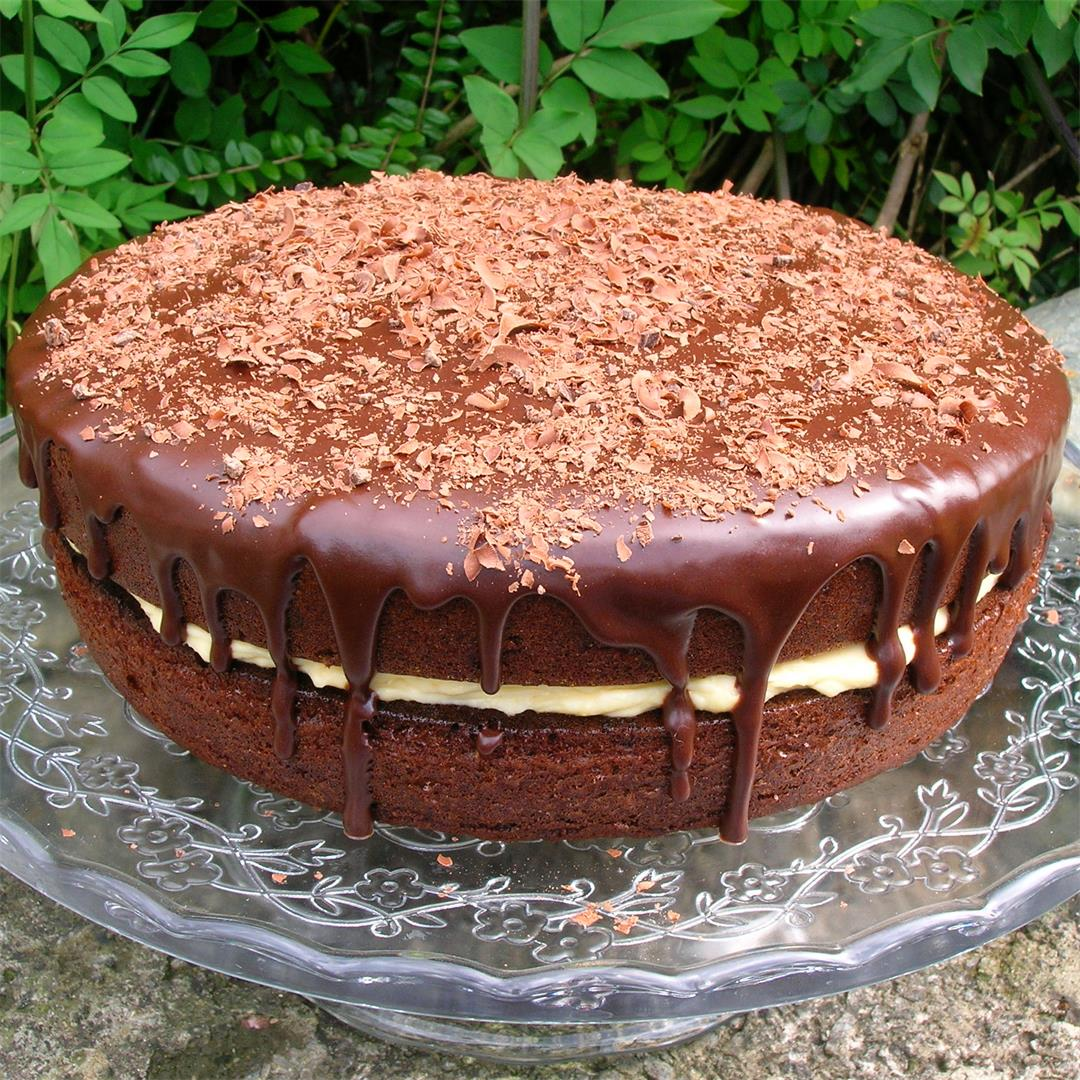 Chilli Chocolate Cake with Apricot Curd Buttercream