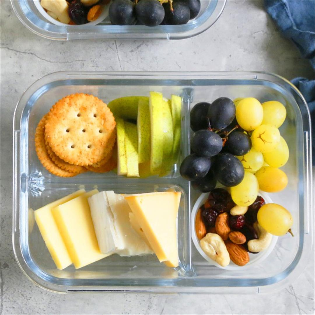 DIY Cheese and Fruit Bistro Box