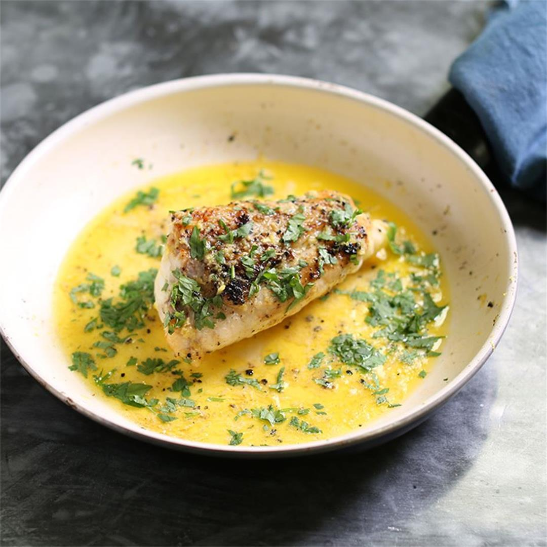Monkfish Tail Steak With Parsley beurre Blanc