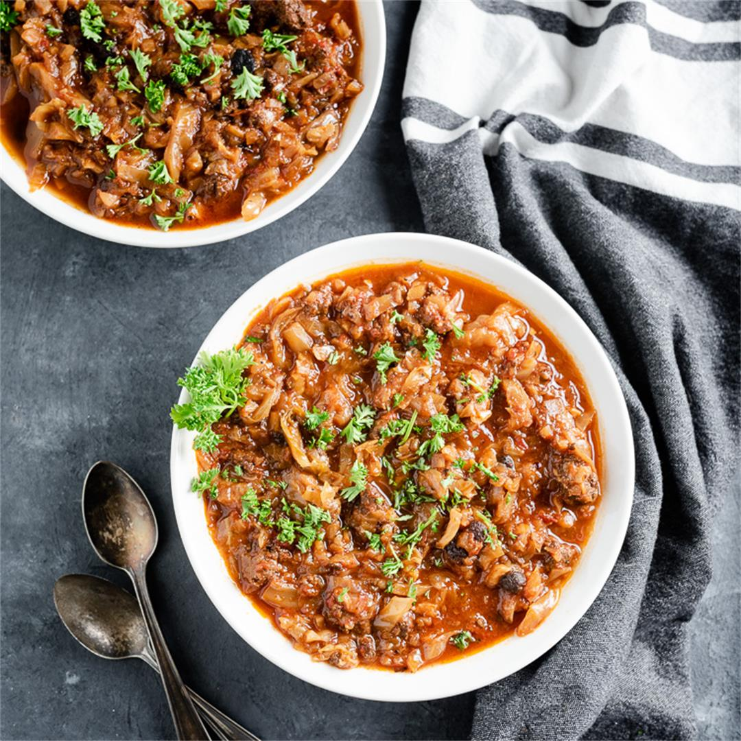 Simple Crockpot Cabbage Roll Soup