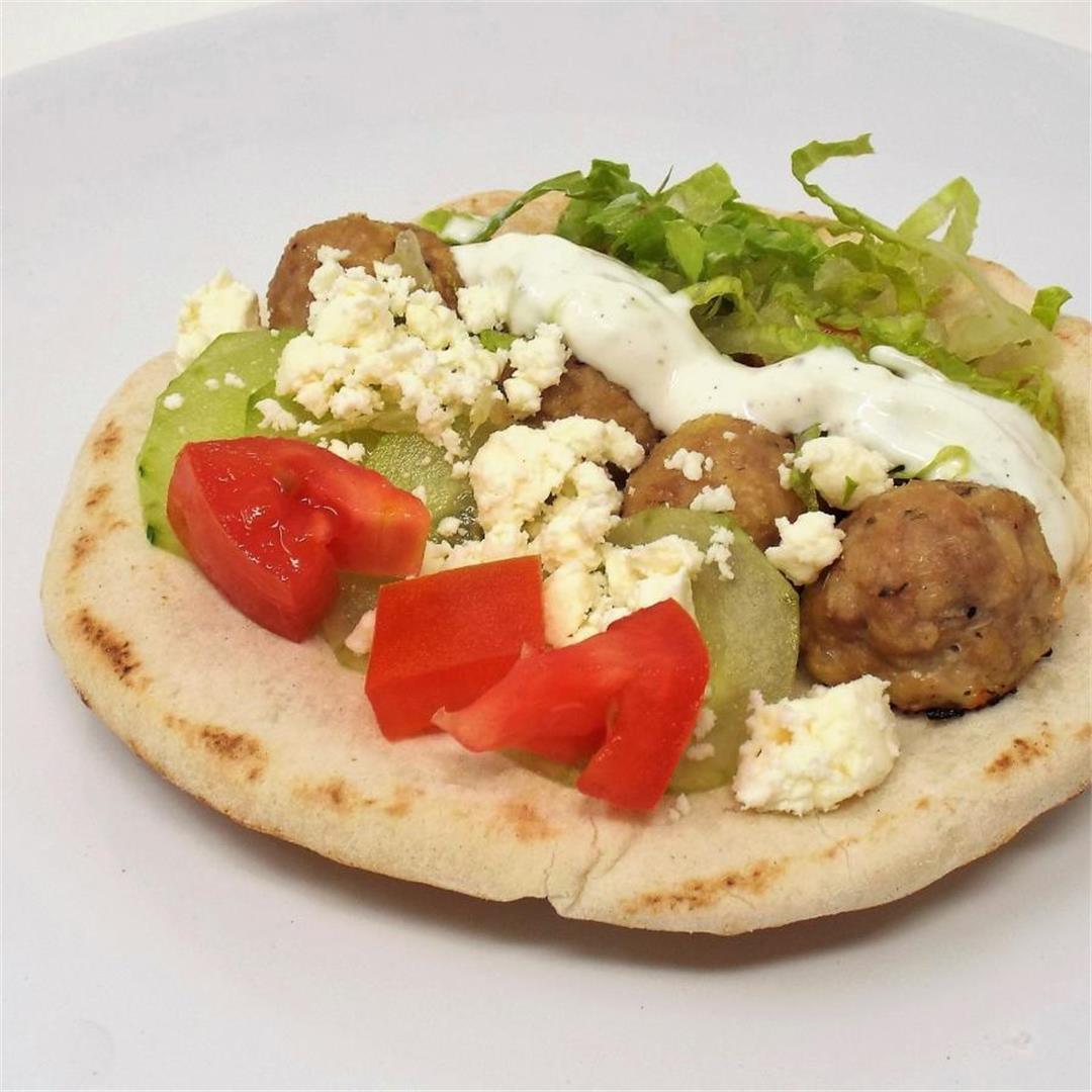 Turkey Meatball Gyros