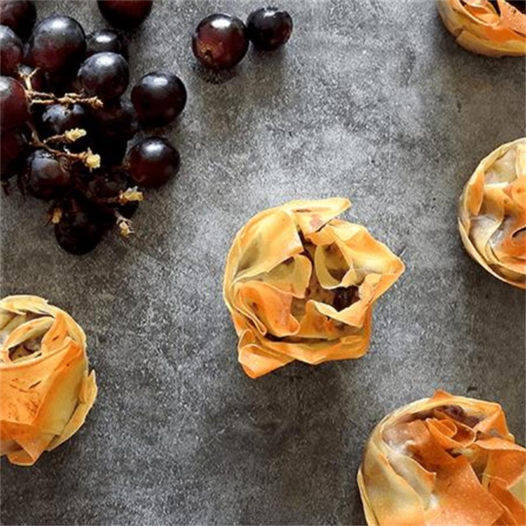 Stilton & Grape Filo Tarts Recipe