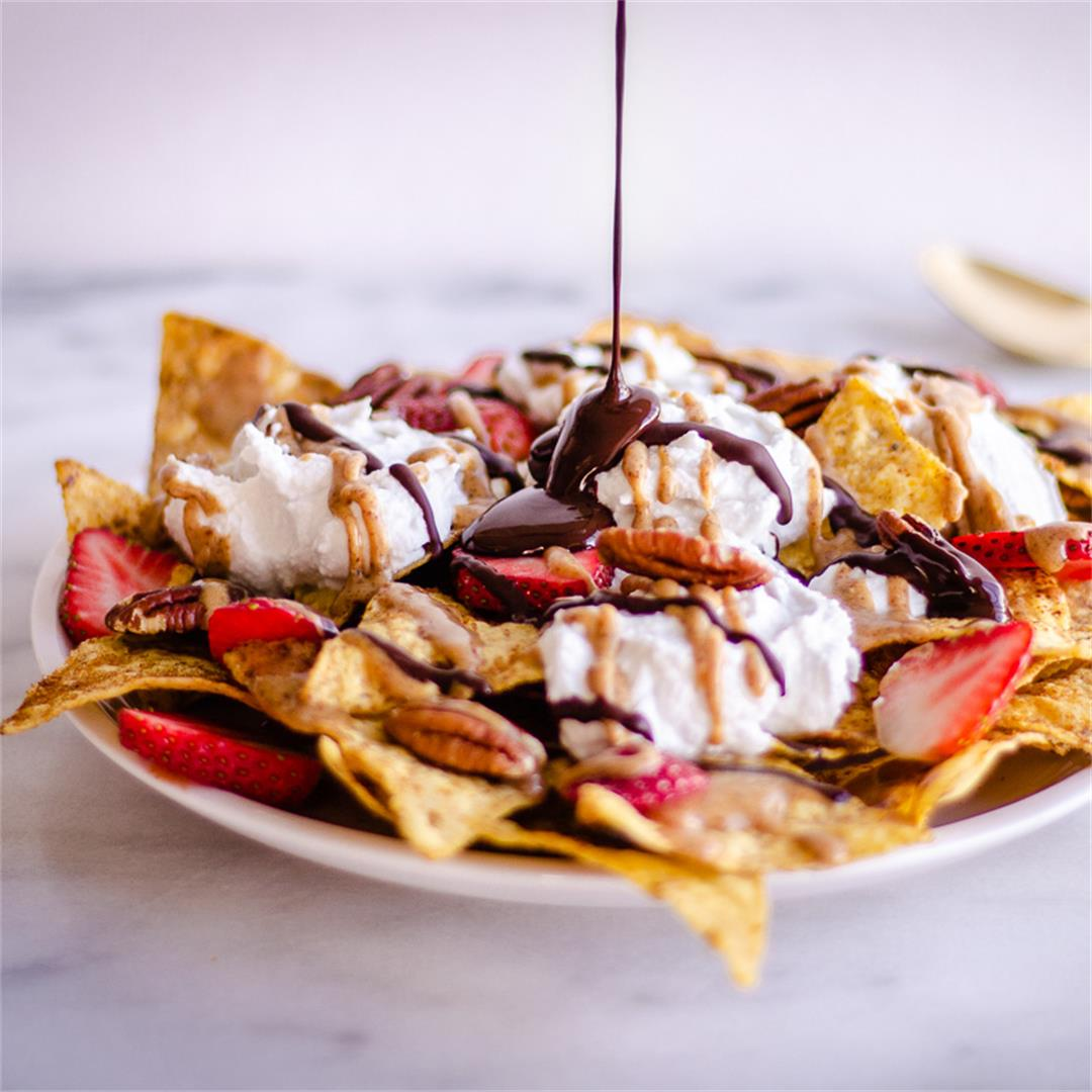 Dessert Nachos (vegan & gluten-free)