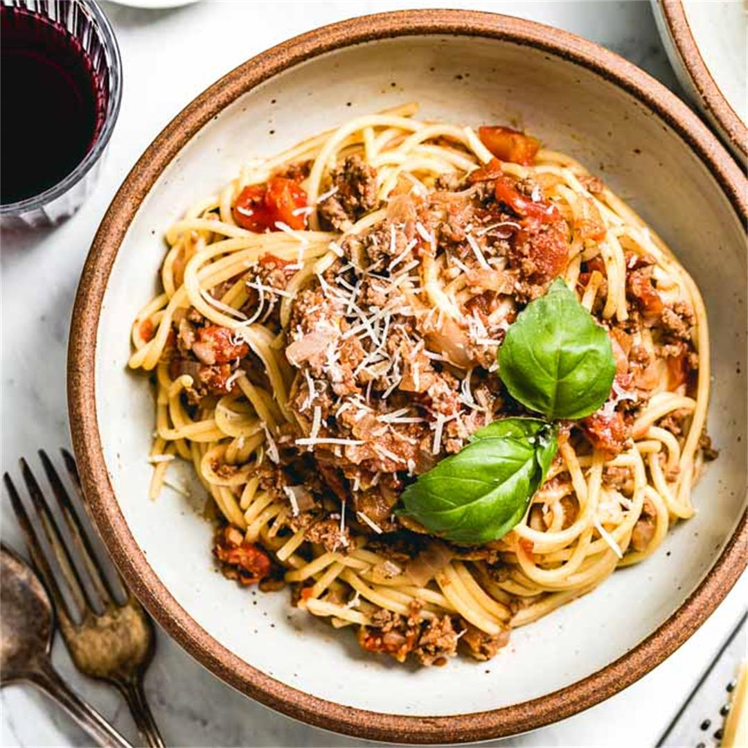 Weeknight Spaghetti Bolognese Recipe
