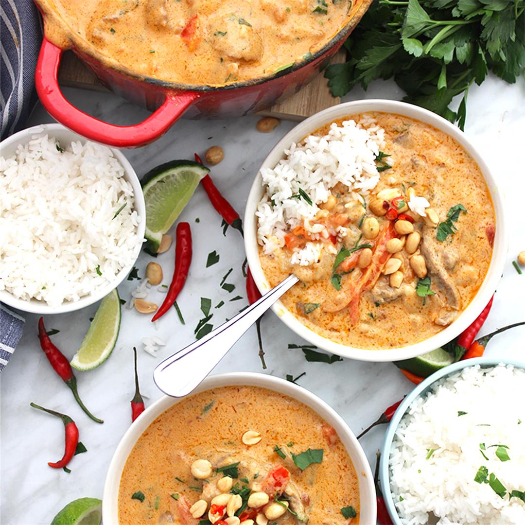 Beef Panang Curry (Beef and Peanut Red Curry)
