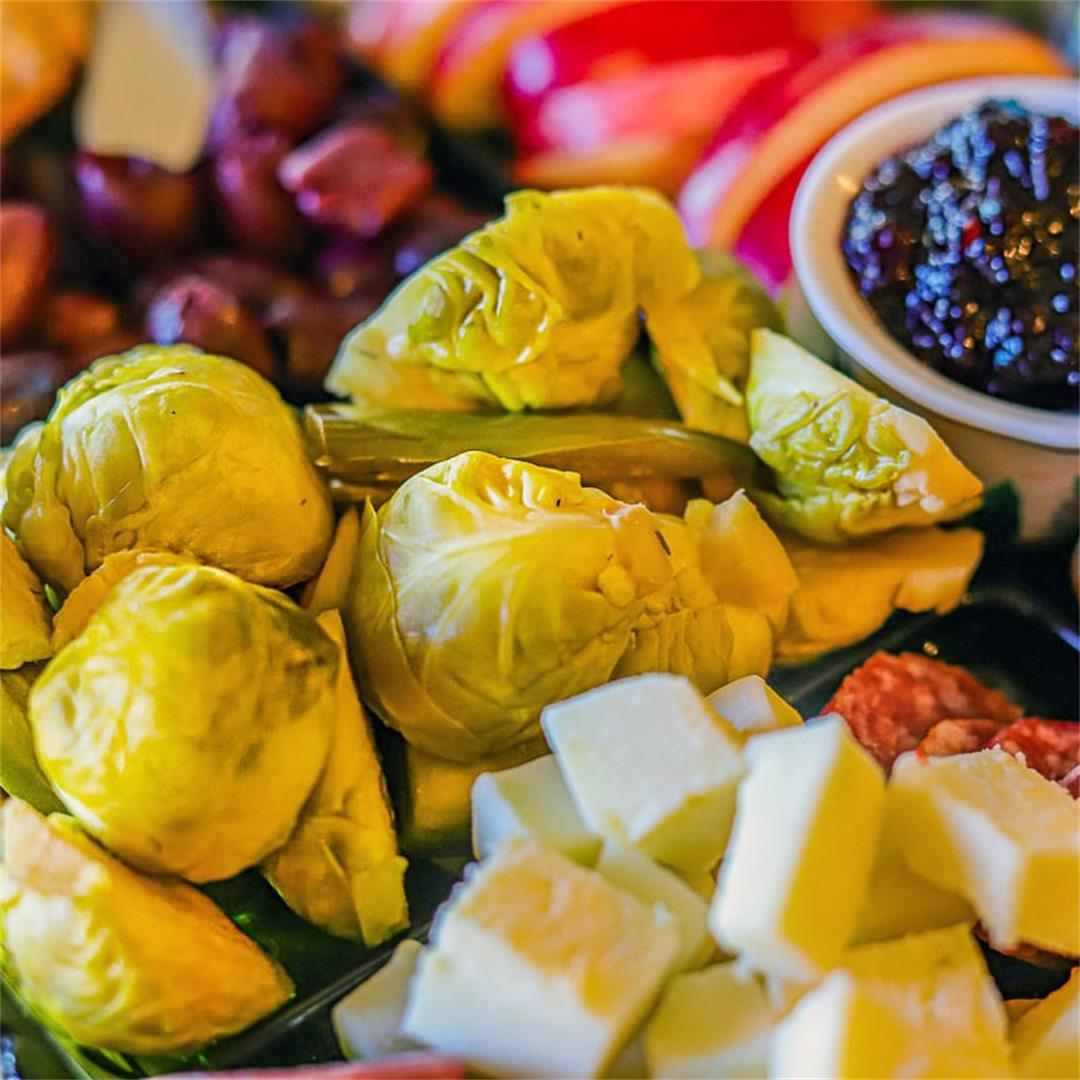 Zesty Pickled Brussel Sprouts