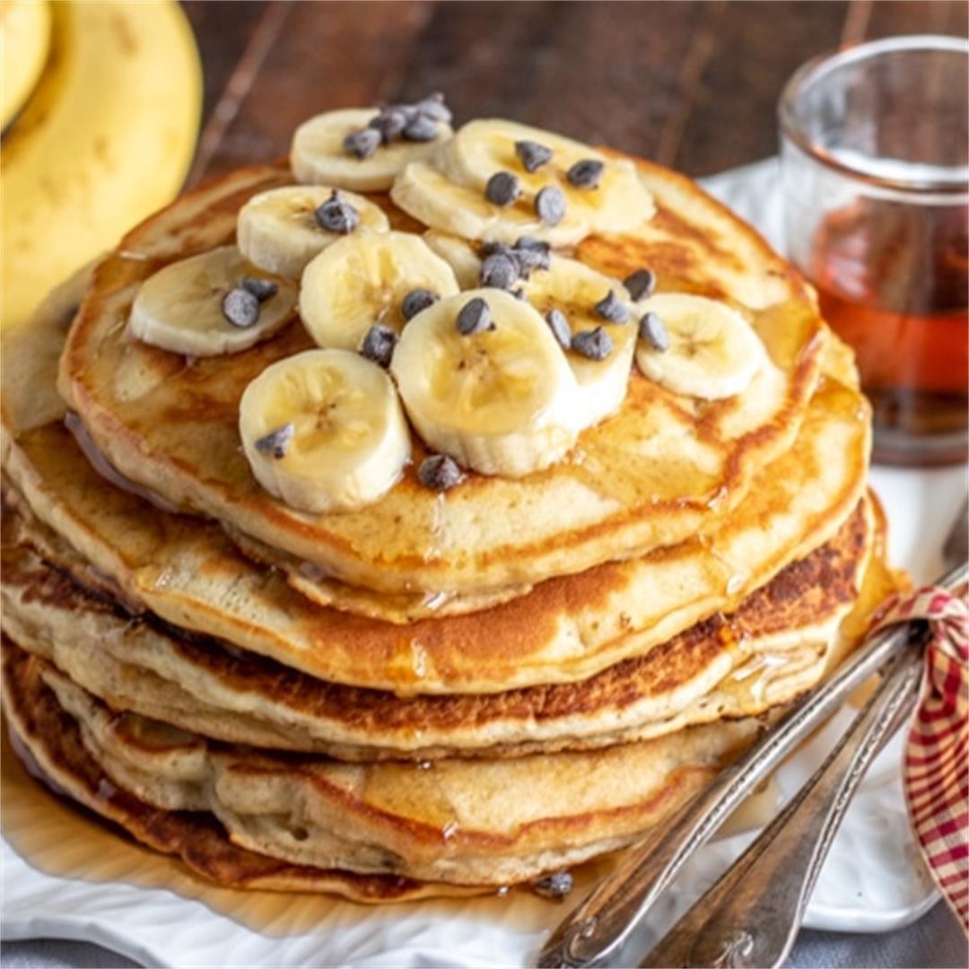 The Yummiest Banana Pancakes Ever