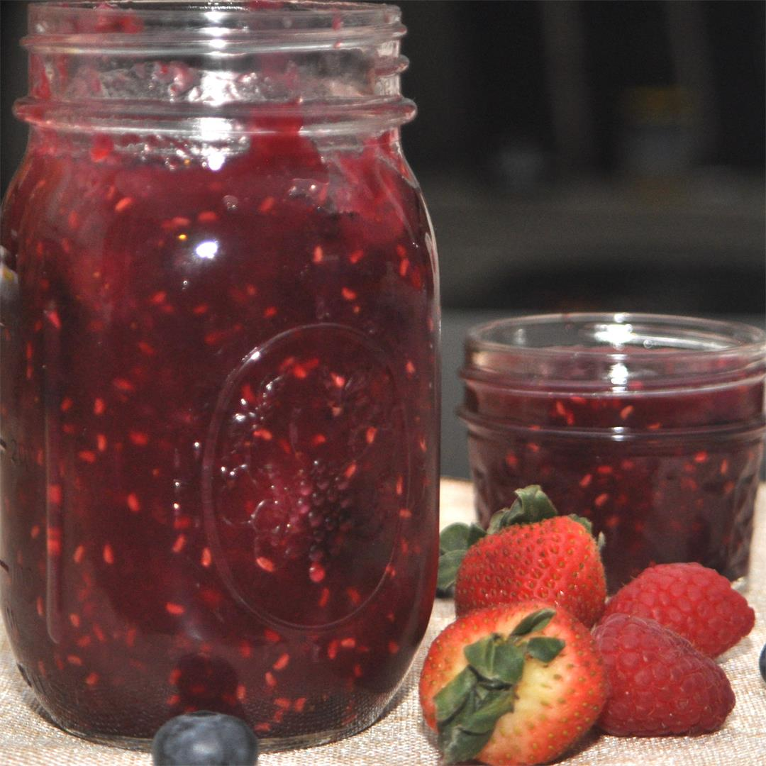 Simple Mixed Berry Jam in Bread Machine