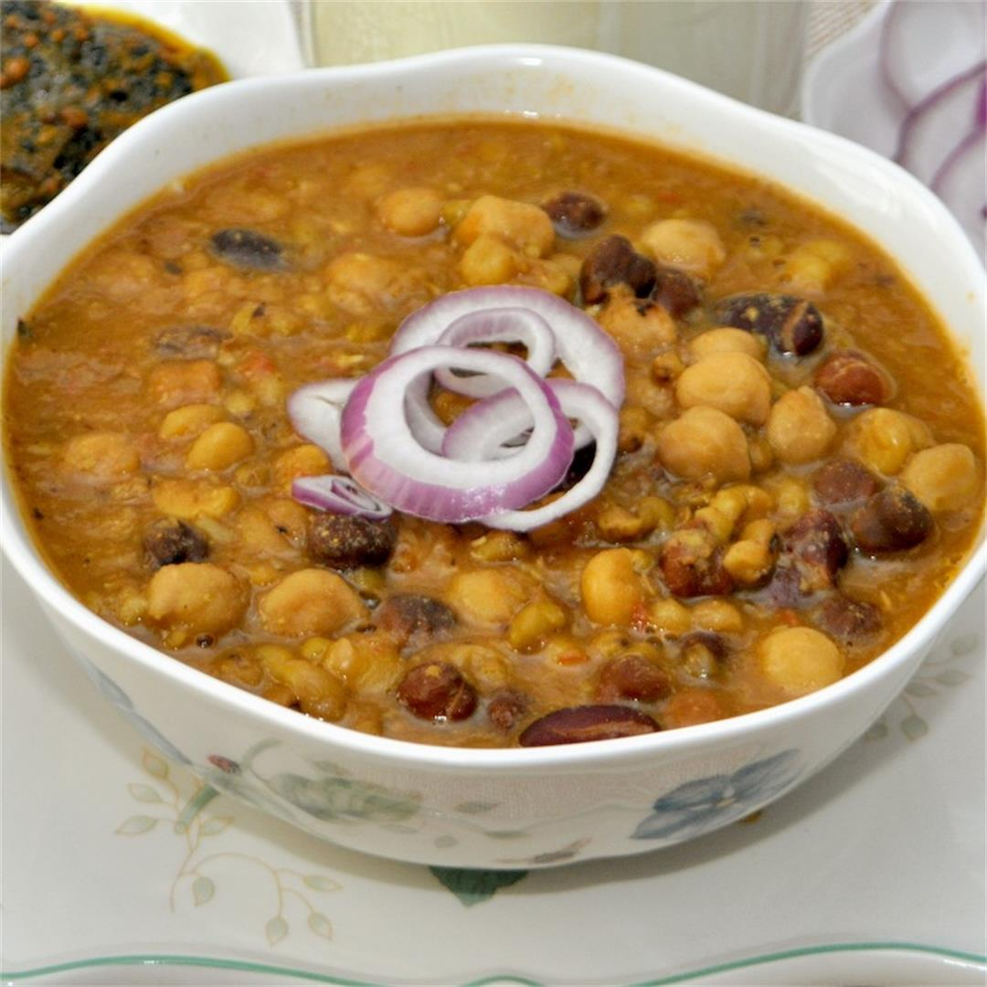 Vegan Mixed Bean Curry in Instant Pot