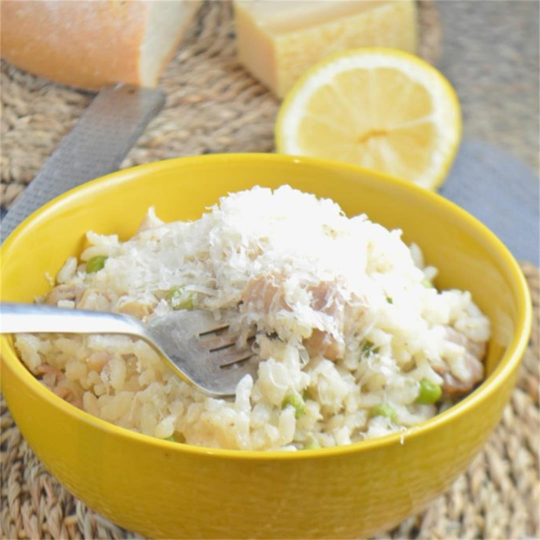 Creamy Chicken & Pea Risotto — Tasty Food for Busy Mums Dinner