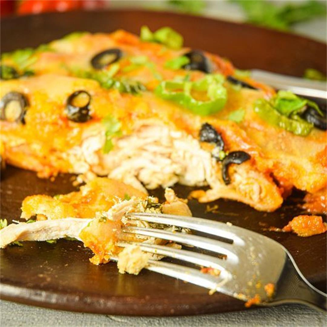 Electric Skillet Chicken Enchiladas