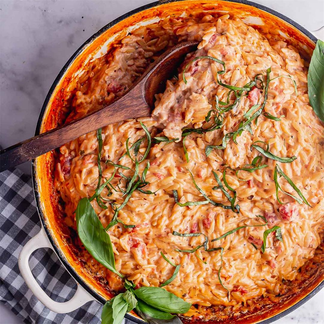 Orzo Risotto with Tomato & Mascarpone