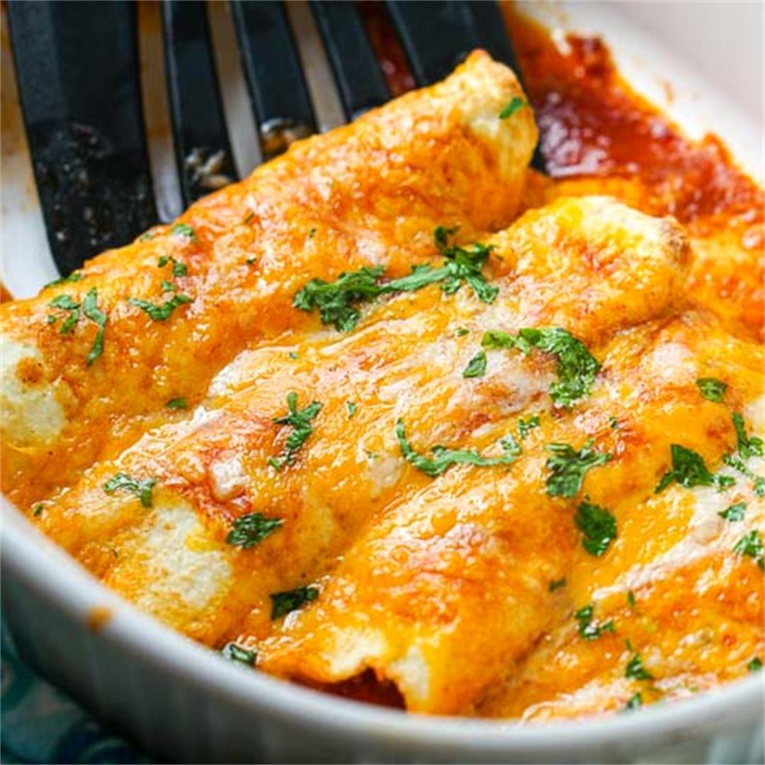 Low Carb Chicken Enchiladas Recipe using Coconut Tortillas