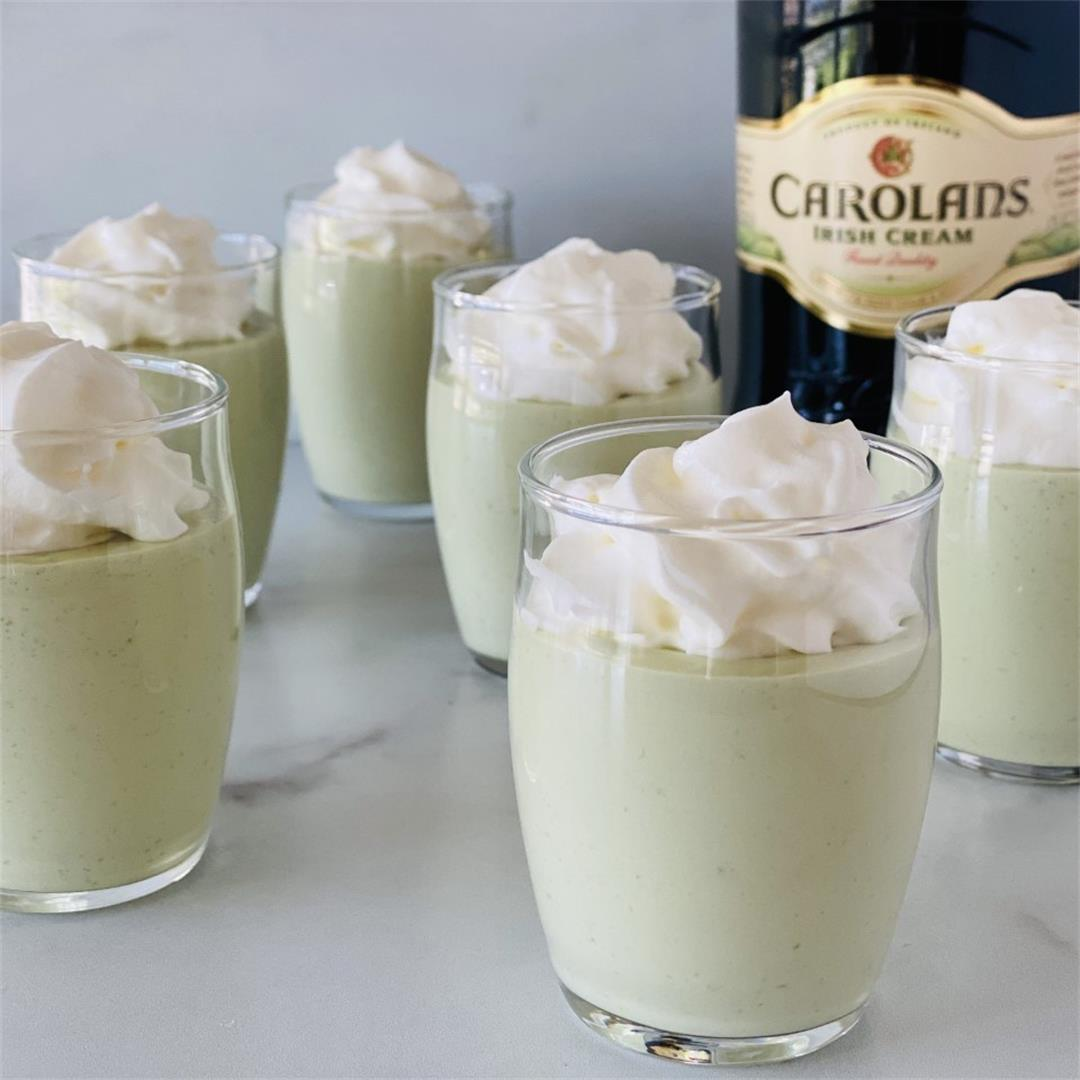 St Patrick's Day Pudding Shots