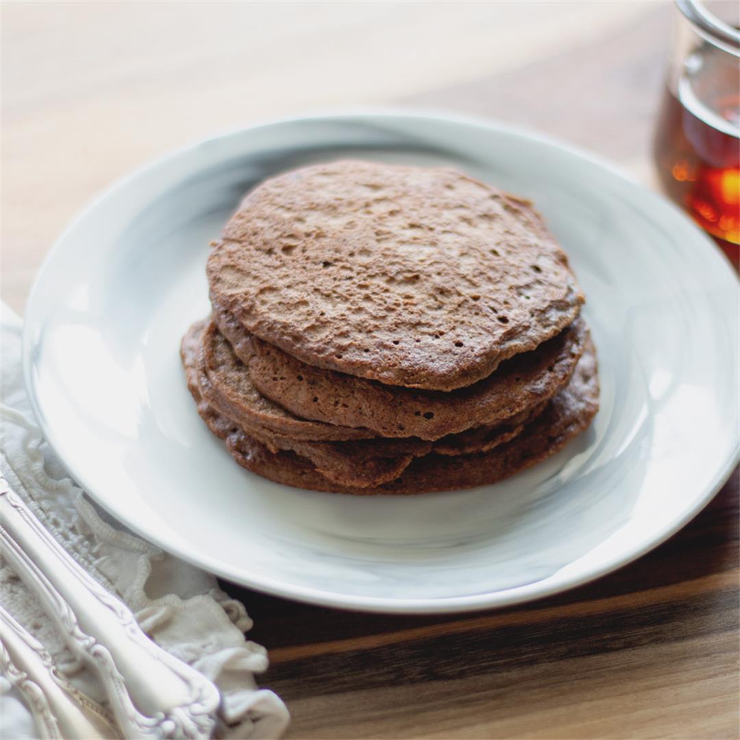 Mocha Pancakes (paleo, gluten-free)