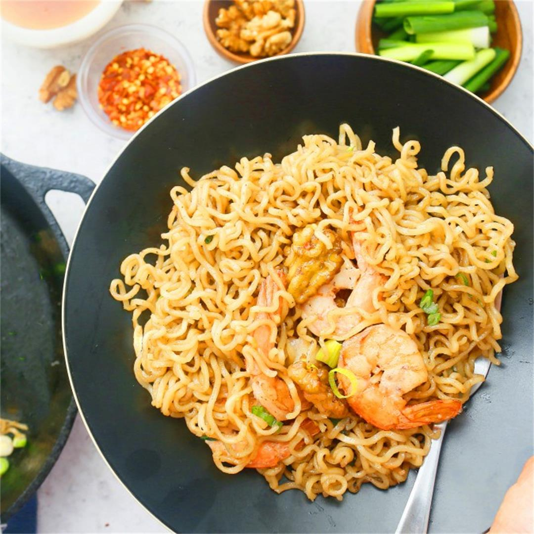 Honey Walnut Shrimp Ramen Noodles