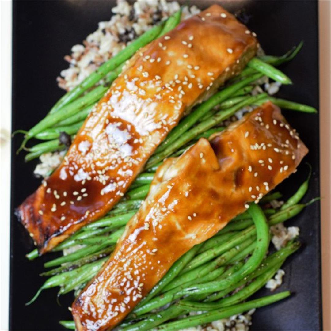Easy Baked Teriyaki Salmon with Homemade Teriyaki Sauce