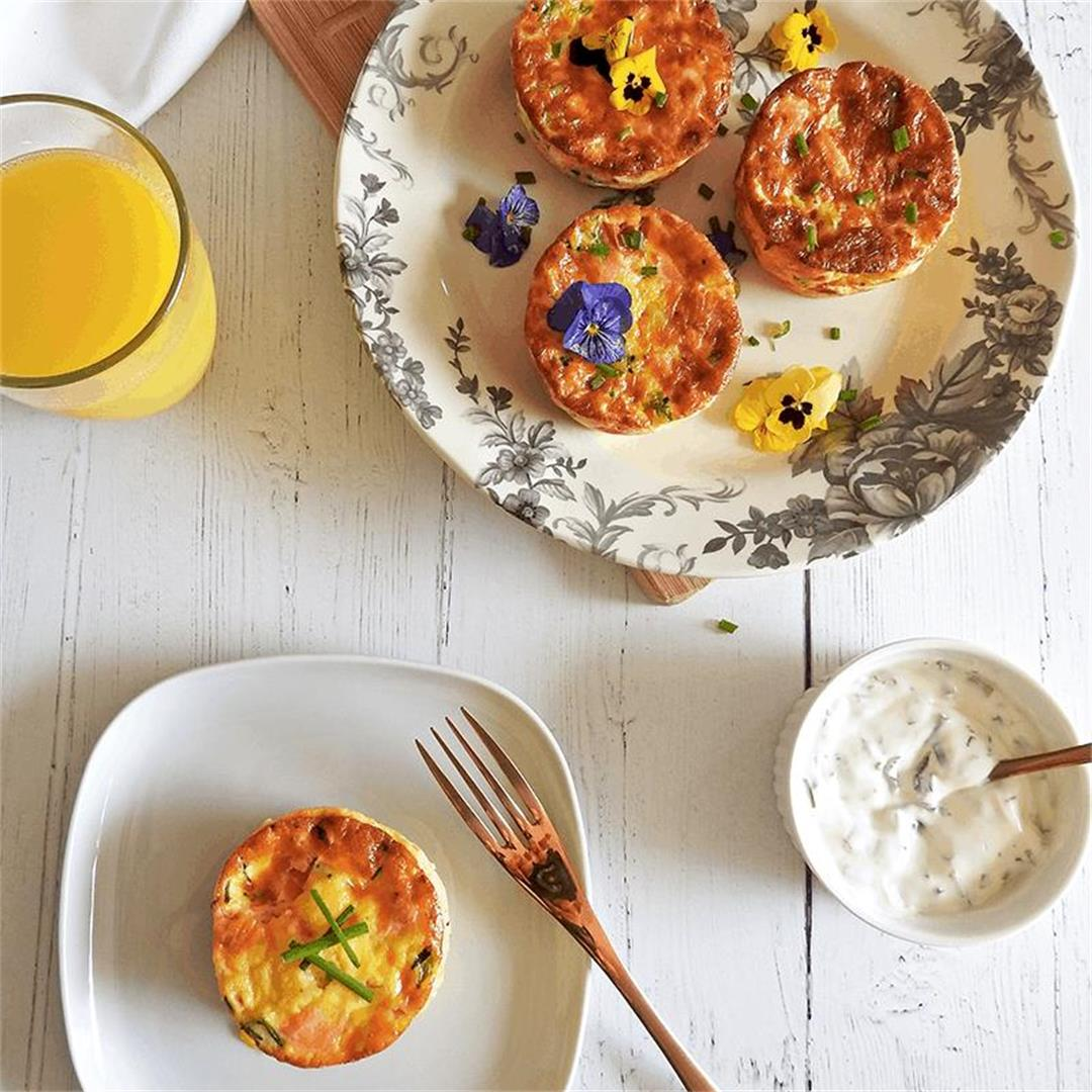 Smoked Salmon & Egg Muffins Recipe