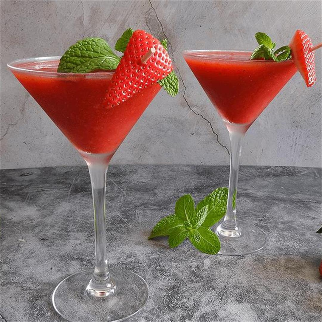 Frozen Strawberry Daiquiri Mocktail Recipe