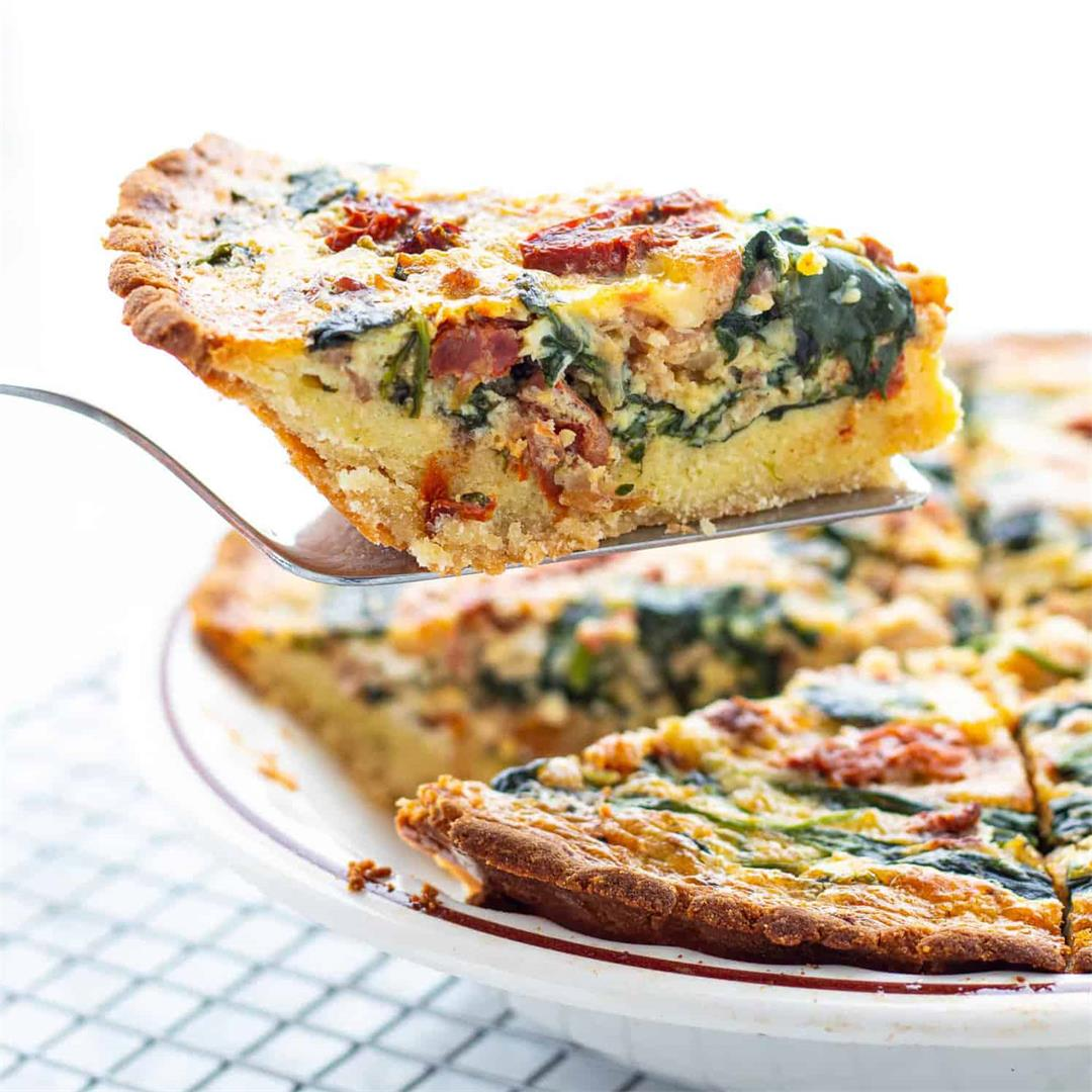 Spinach & Bacon Low Carb Quiche