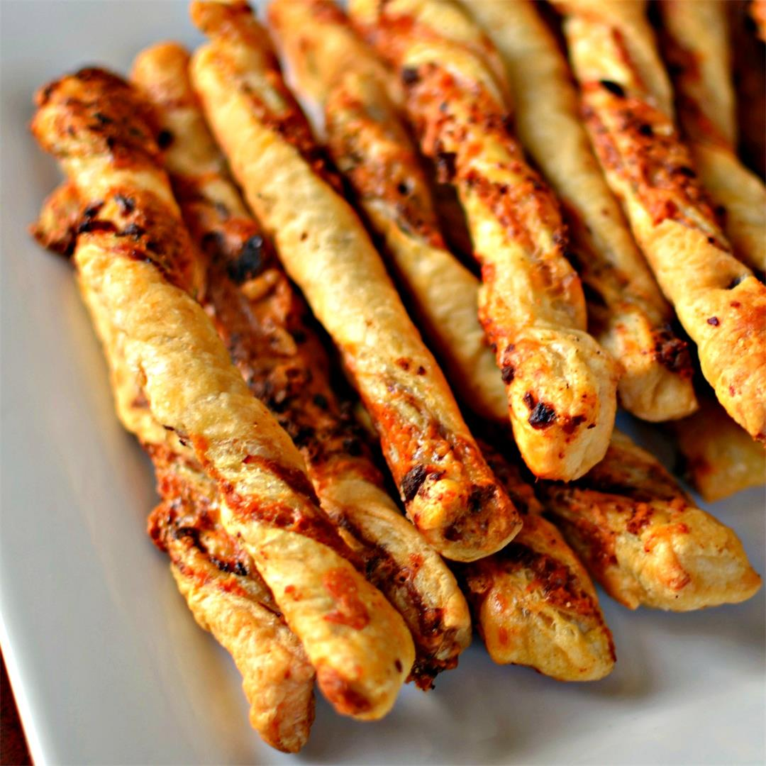 Cheese Straws Made Easy With Puff Pastry