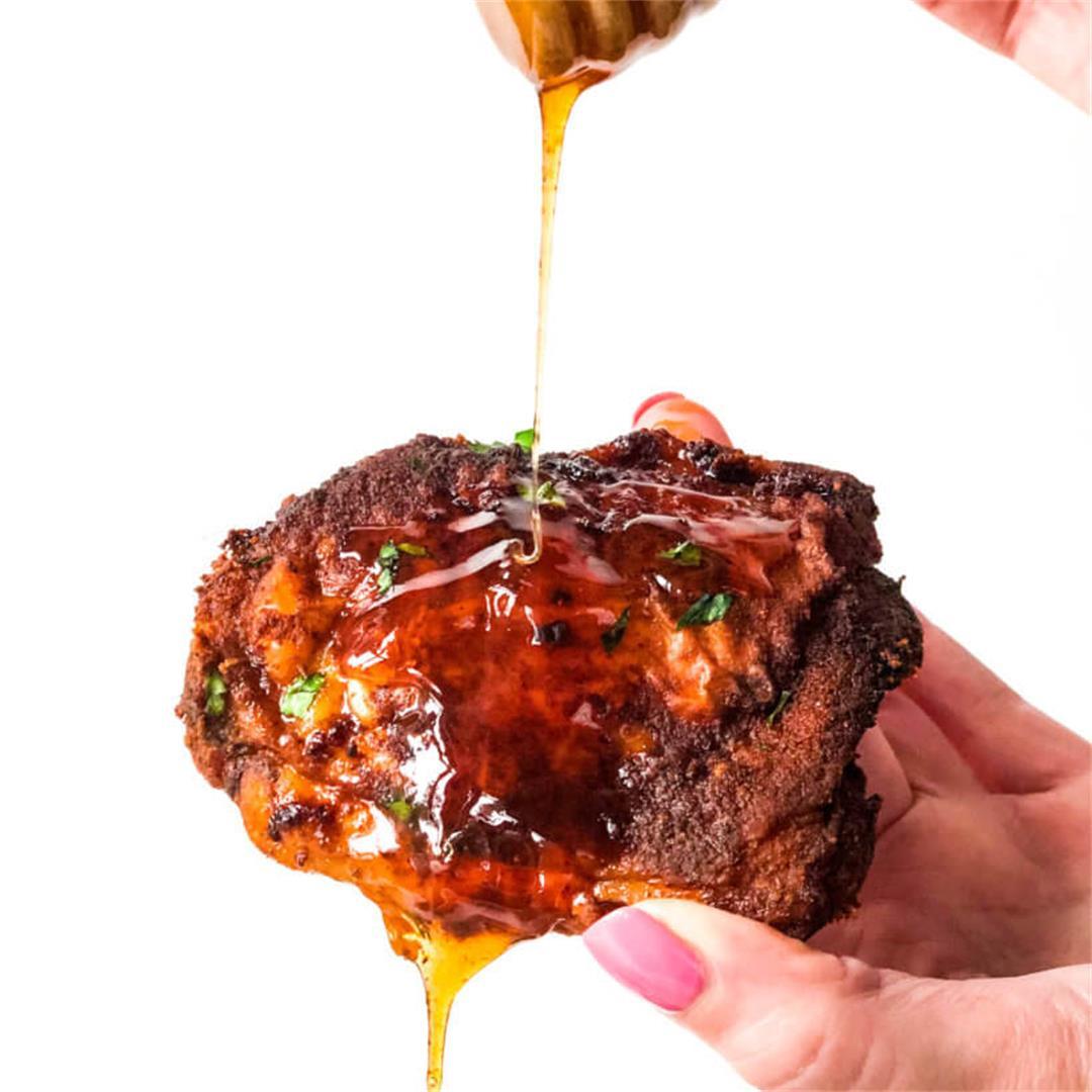 Sheet Pan Hot Honey Chicken