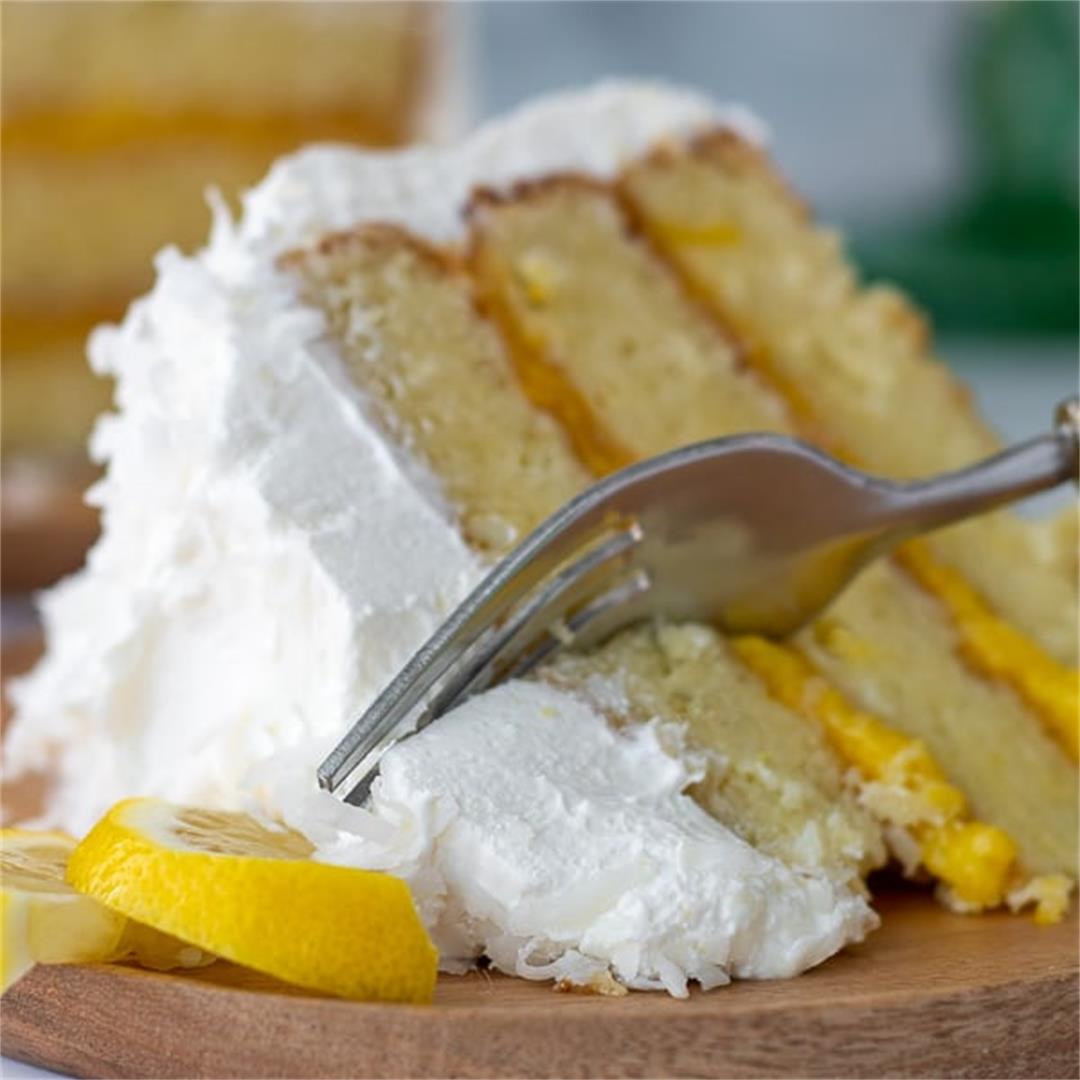 Easy Homemade Lemon Coconut Cake